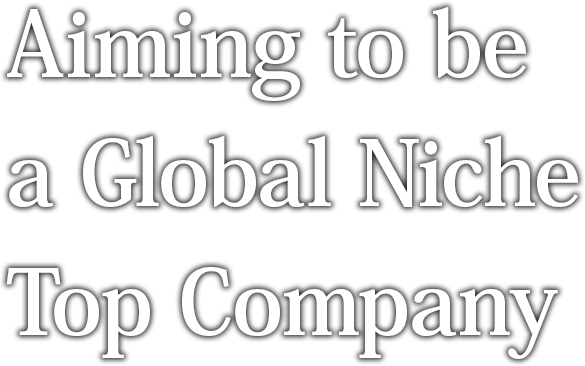 Aiming to be a Global Niche Top Company