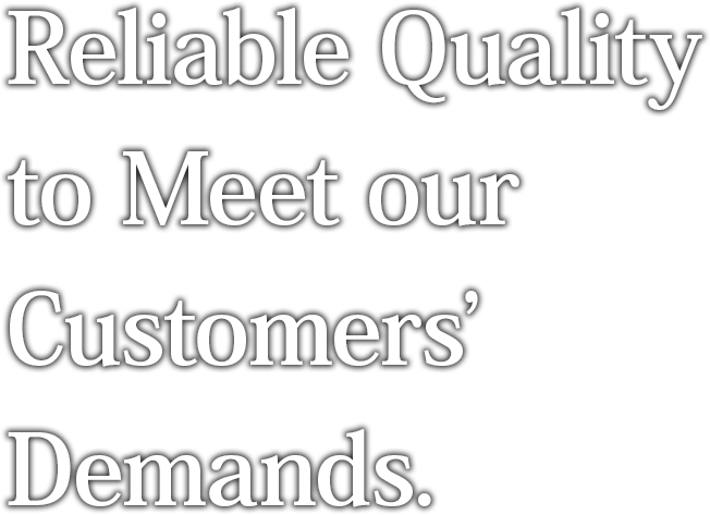 Reliable Quality to Meet our Customers' Demands.
